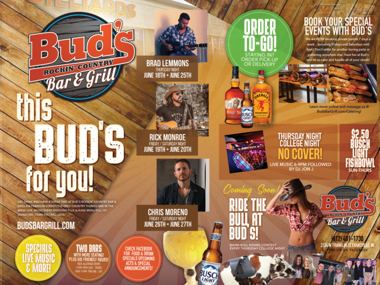 buds rocking country bar june events